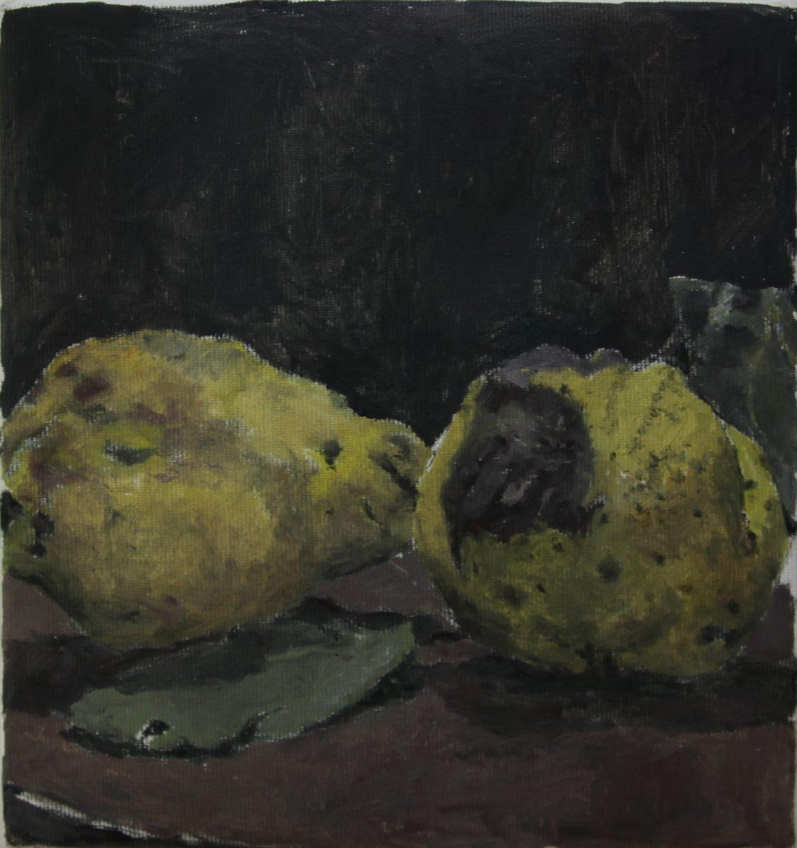 Gabis Quitten 4, 2021, 20 x 21,5 cm