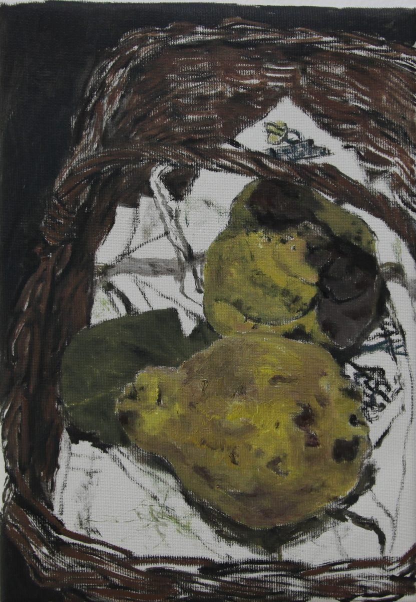 Gabis Quitten 3, 2021, 19 x 27 cm