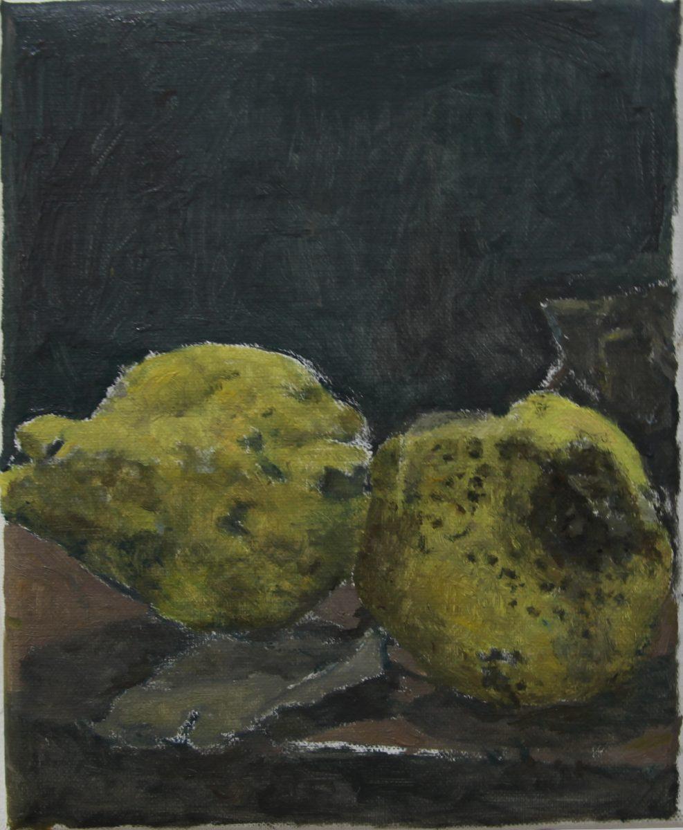 Gabis Quitten 1, 2021, 19 x 23 cm