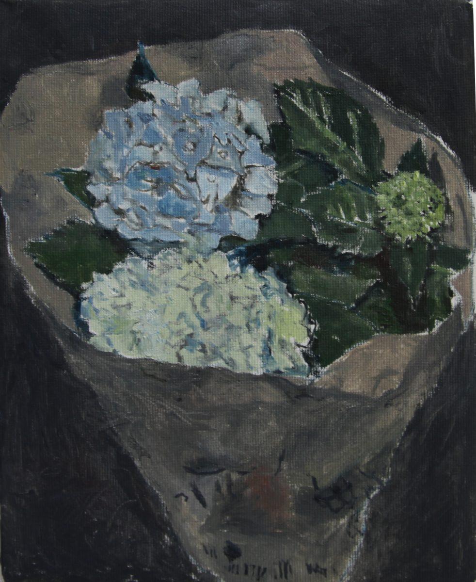 Hortensien 1, 2021, 20 x 25 cm