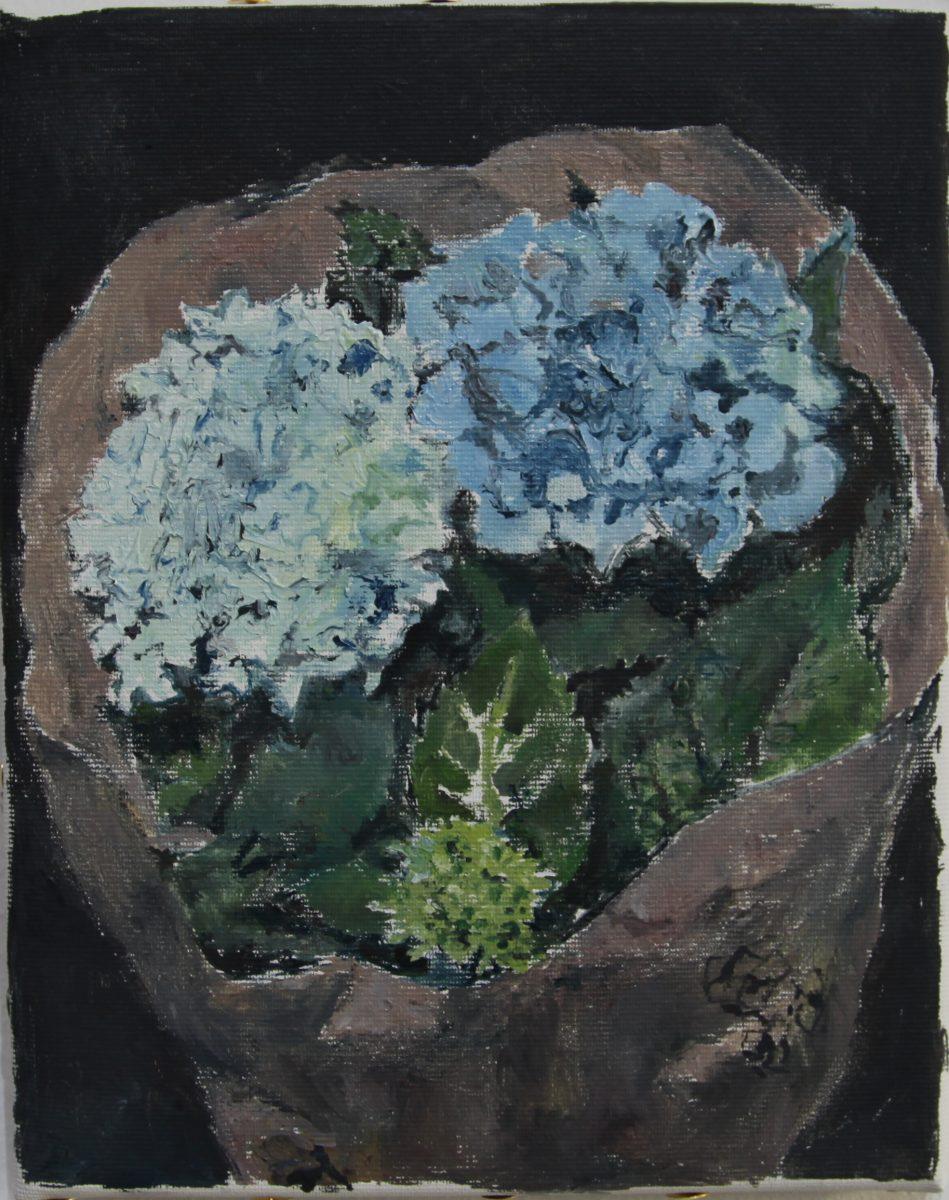 Hortensien 2, 2021, 20 x 25 cm